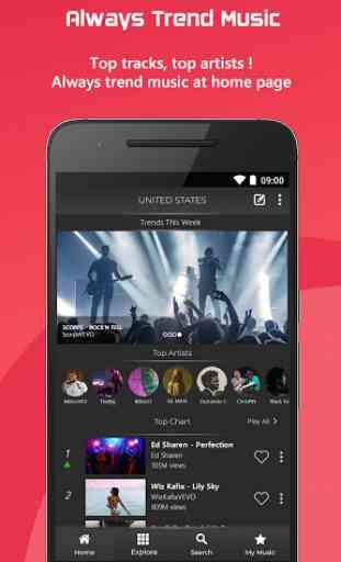 Free Music : YouTube Stream Player 1