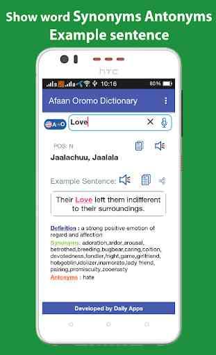 Afaan Oromo Dictionary Offline 3