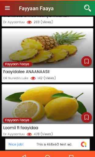 Fayyaan Faaya - Oromo Health Tips 3