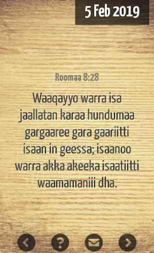 Oromo  Bible Verse 3