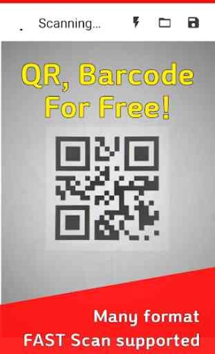 QR Scanner : Free QR code reader & Barcode scanner 3