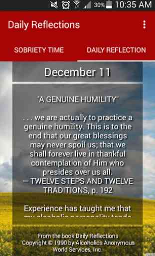 Daily Reflections 1
