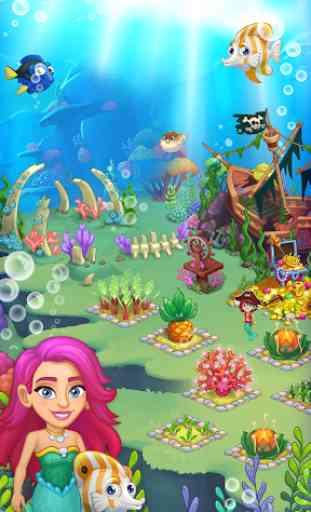 Aquarium Farm: fish town, Mermaid love story shark 1