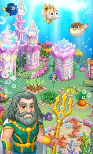 Aquarium Farm: fish town, Mermaid love story shark 2