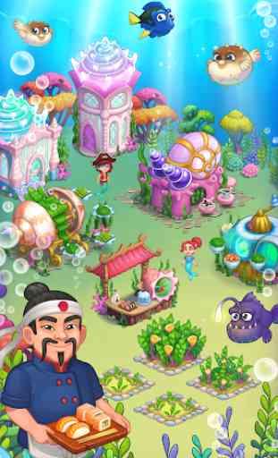 Aquarium Farm: fish town, Mermaid love story shark 3