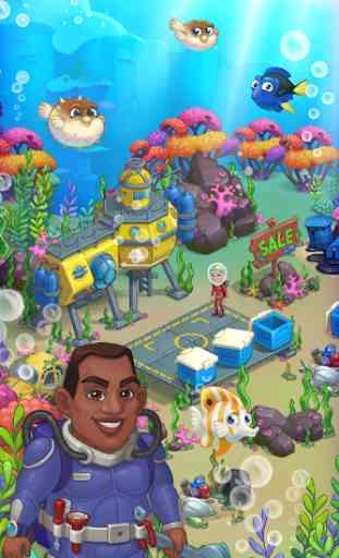 Aquarium Farm: fish town, Mermaid love story shark 4