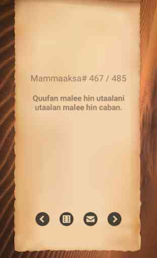 Mammaaksa Oromoo - Oromo Proverb 1