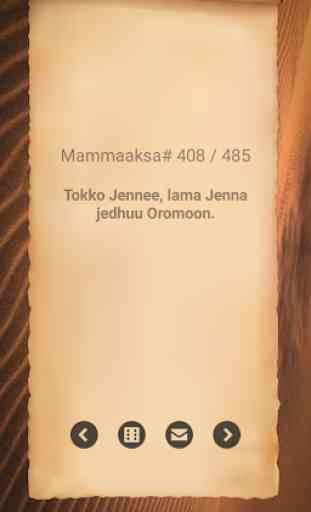 Mammaaksa Oromoo - Oromo Proverb 4