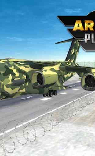 Army Cargo Plane Airport 3D 1