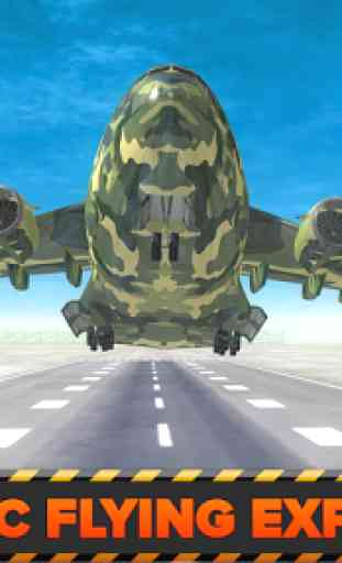 Army Cargo Plane Airport 3D 3