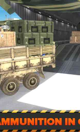 Army Cargo Plane Airport 3D 4