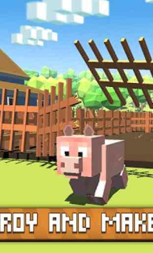 Blocky Pig Simulator 3D 2