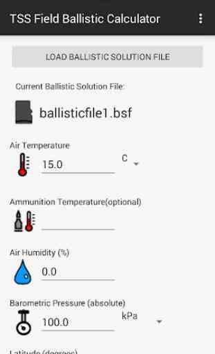 TSS Field Ballistic Calculator 1