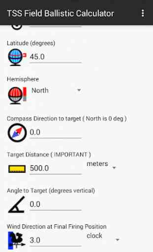 TSS Field Ballistic Calculator 2