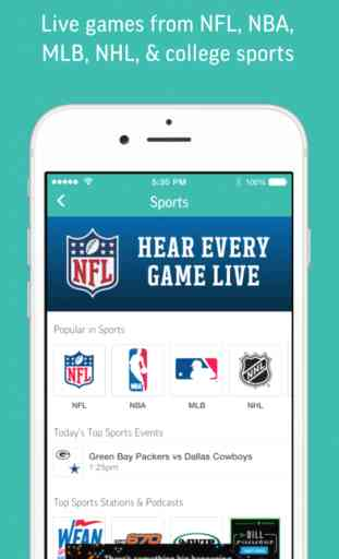 TuneIn Radio - NFL NBA Audiobooks Podcasts Music 2