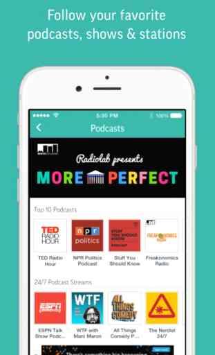 TuneIn Radio - NFL NBA Audiobooks Podcasts Music 4